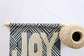 diy holiday fabric banner string