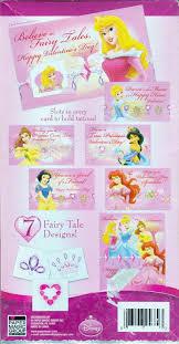 Disney Princess Valentine Cards With Glitter Tattoos