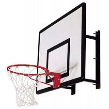 basketball backboard hoop wall mount