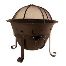 Hampton Bay  34 Inch Round Fire Pit Including Cooking Grill  FTB Home Depot Fire Pit