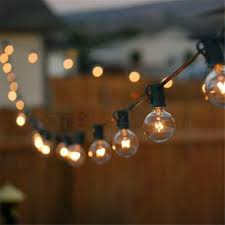 Solar Powered Retro Style String Light Bulbs Patio Lights G40 Globe Party Christmas String Light Warm