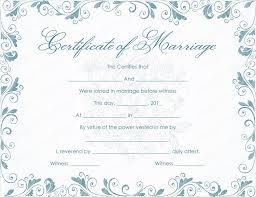 Classic Bluish Marriage Certificate Template