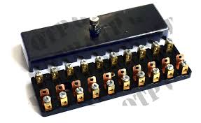 fuse box 10 pole black cover quality tractor parts