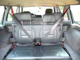 refold a third row seat in a volvo 850