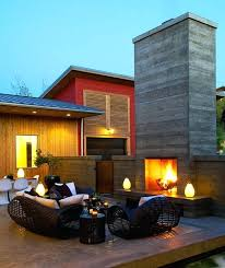 outdoor fireplace design modern fireplace red wall outdoor stone fireplace design ideas