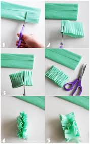 how to make fringed crepe paper streamers snap