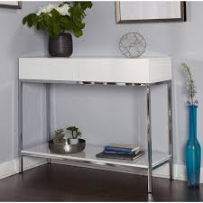 white metal furniture. Simple Living White Wood And Chrome Metal High Gloss Console Table - Free Shipping Today Overstock 19708279 Furniture B