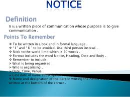 English Notice Writing Format Cbse Class 8 Samples Throughout Report ...