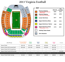 Virginia Football Stadium Seating Chart Google Search