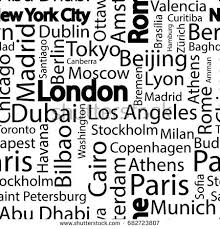 Pattern Names Interesting Cities World Seamless Pattern Names Cities Stock Vector Royalty