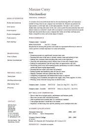 Retail Merchandiser Resume Sample Buy This Retail Visual