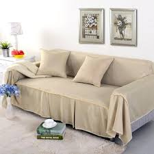 solid color beige 1 2 3 4 sofa cover double seat slipcover polyester cloth seater couch