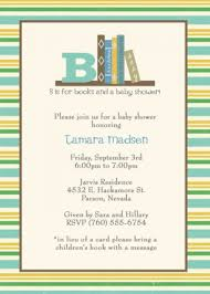 Bring A Book Baby Shower Invitations  ILCASAROSFCOMLibrary Themed Baby Shower Invitations