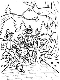 Small Picture Wizard Of Oz Coloring Pages To Print mago de oz Pinterest