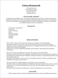 Gallery Of Professional Personal Banker Resume Templates To Showcase