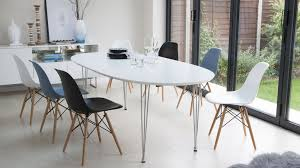 white modern oval dining table design extend one modern oval