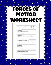 Worksheets On Force And Motion - Checks Worksheet