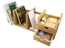 office desk storage. natural bamboo desk organizer with extendable storage and two drawers for office home expandable o