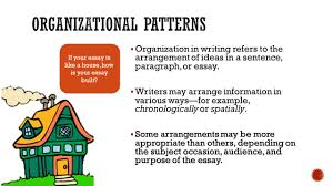 organizational patterns in writing ppt video online  organizational patterns