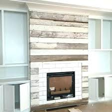 reclaimed wood fireplace wall around mantel uk