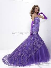 romantic purple mermaid wedding dresses cherry marry
