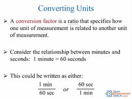 chemistry lesson unit conversions metric and english system