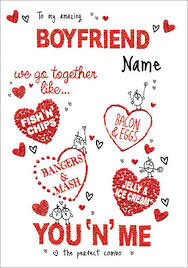 We Go Together Boyfriend Valentines Day Card Funky Pigeon
