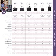 Bag Comparison Chart Sarah Wells Bags