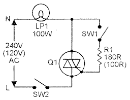 figure 2 simple ac power switch with resistive lamp load
