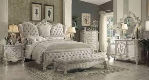 Versailles Upholstered Bedroom Set w/ Ivory Bed in 2019   Bedroom ...