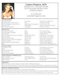 beginner acting resume sample beginner actor resume example sample theater samples singer