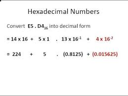 fractions in decimal form discrete maths converting hexadecimal numbers with fractions to