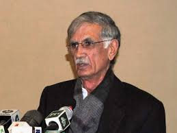 Image result for Pervez Khattak media talk in lahore march 7 photos