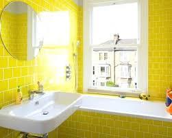 Yellow subway tile Metallic Yellow Bathroom Walls Bathroom Small Transitional Master Yellow Tile And Subway Tile Bathroom Idea In With Chobe Design Yellow Bathroom Walls Bathroom Small Transitional Master Yellow Tile