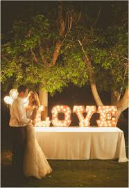 Lighting ideas for weddings Fairy Lights Light Up Letters It Girl Weddings 9 Wedding Lighting Trends It Girl Weddings