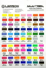 International Coatings Ink Color Chart Plastisol Inks Screen Printing Ink Lawson Screen
