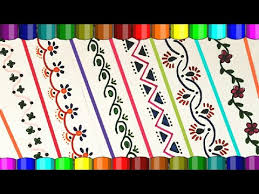Chart Paper Border Designs For Science Project