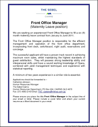 Gallery Of Front Office Manager Resume Free Samples Examples Format