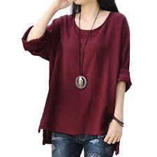 Walmart Womens Size Chart Womens Round Neck Long Sleeve Loose Asymmetric Tops