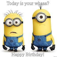 Image result for happy birthday minions