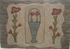 to see full size image 843 wm primitive poppies rug hooking pattern