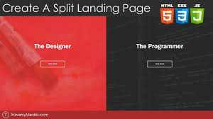 Create a Split Landing Page With HTML, CSS & JS - YouTube