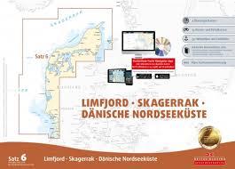 Paper Chart Set 6 Denmark Limfjord Skagerrag Danish Northern Coast