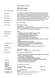 Kitchen Staff Cover Letter Kitchen Staff Job Description For Resume