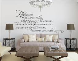Wall Sticker Quotes Beauteous Life Is Short Quote Wall Decals Inspirational Quotes