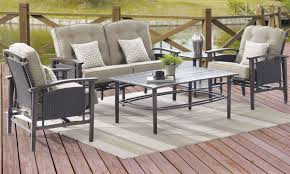 Outdoor Living Room Furniture Coronado Outdoor Love Seat Coffee Table 2 Arm Chairs The