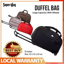 oxford waterproof trolley duffel bag thick style suitcase women men travel bags
