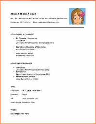 easy sample resume