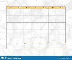 May Blank Calendars May Blank Calendar Stock Illustration Illustration Of