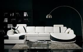 Interesting Modern Leather Sectional Couch Divani Casa Sofa N On Decorating Ideas